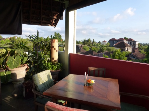 Black Beach Restaurant Third floor view over Ubud