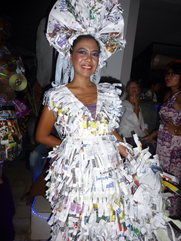 A gown made of waste.....