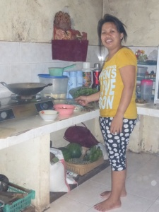 Sumantra's wife cooking
