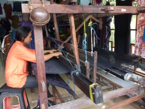 Traditinal Balinese weaving