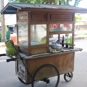 Not food trucks but food bikes...moped or pedal serving a minced-meat soup.  They ring a bell on their arrival at a new location. I'm tempted but ....